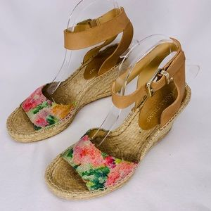 Ivanka Trump Womens Shoes Wedge Sandals Size 7.5